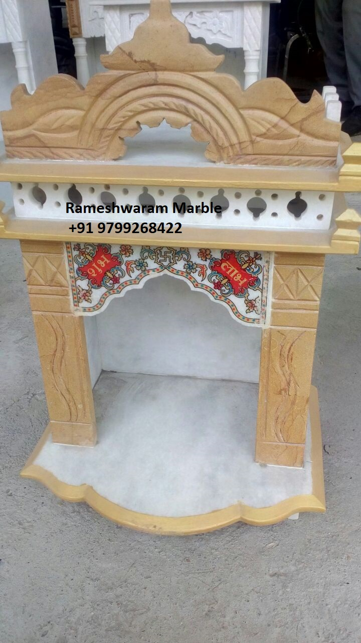 Rm 2ft Height White Marble Temple For Home Office R Marbles